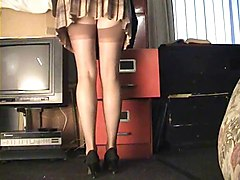 Upskirt Stockings Secretary