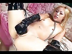 Anal Blonde Boots Gloves