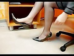 nylons foot job blonde