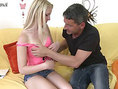 Blonde Teen Old Man
