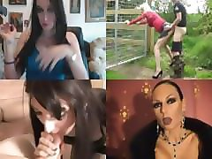 crossdressing cum swallow