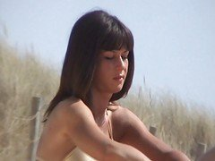 Amateur French Nudist Couple Beach