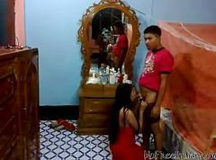Arab Asian Indian Couple Cumshot