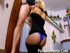 Blonde Teen Spanish