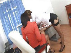 Office Secretary Threesome