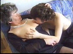 horny shaved anal granny