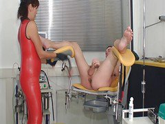 Latex Milk Femdom Ass Teacher Cumshot Exam