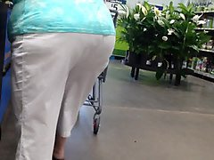 touching granny ass