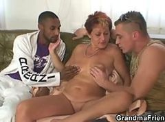 Granny Orgy Interracial Threesome