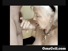 oma granny ass licking german