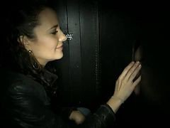 brought her to a gloryhole