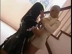 latex handjob wifey