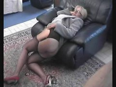 mature lady with stockings gets