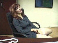mature secretary handjob