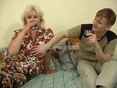 hot blonde mature and russian boy