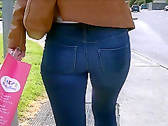Jeans Leather Ass Tight