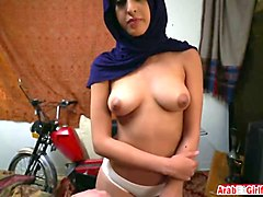 arab hijab aunt showing off