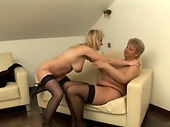 blonde mature and young boy