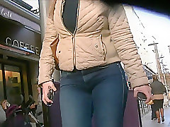 Blonde Jeans Milf Tight