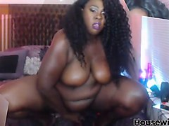 bbw ebony bathing