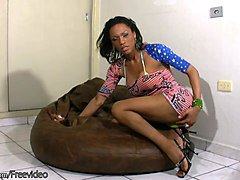 Ebony Babe Masturbation Jerking Ass Big Ass