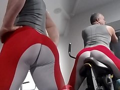 hot lesbians in spandex leggins fuck at the gym